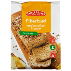 Møllerens Fiberbrød med solsikke, glutenfri