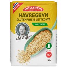 Møllerens Havregryn, glutenfri og lettkokte