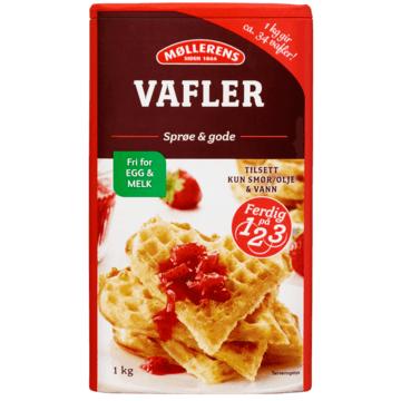 Møllerens Vafler, fri for egg og melk