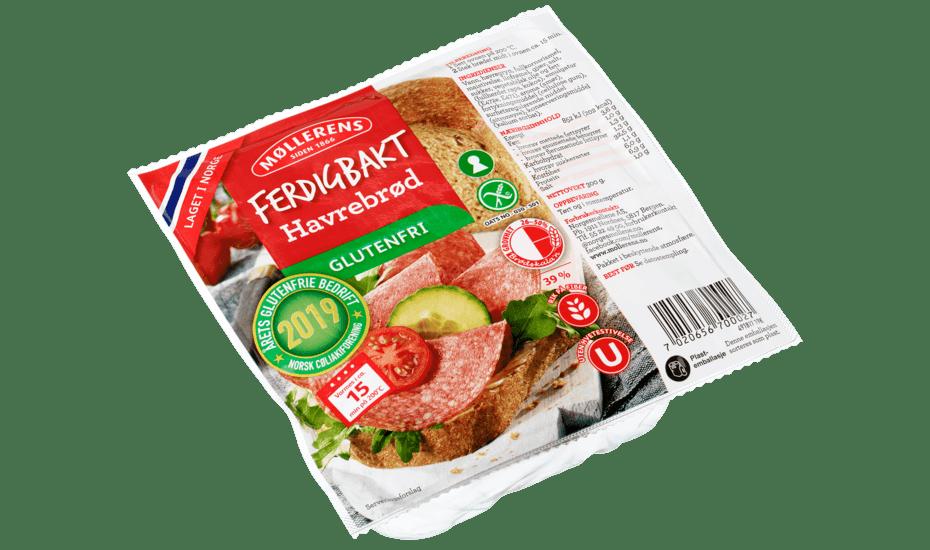 Møllerens Ferdigbakt Havrebrød, glutenfri