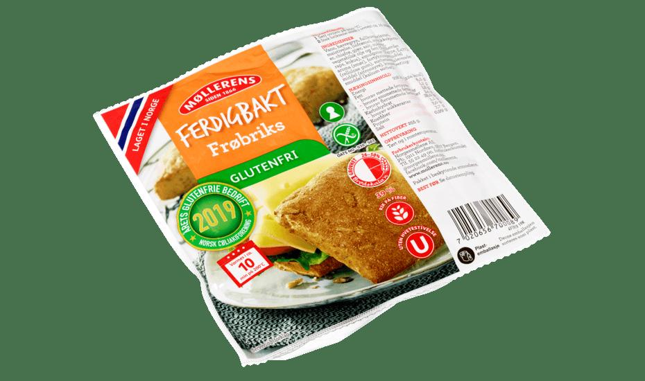 Møllerens Ferdigbakt Frøbriks, glutenfri