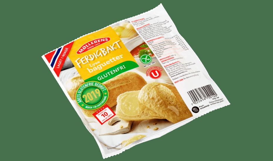 Møllerens Ferdigbakt Lyse Baguetter, glutenfri