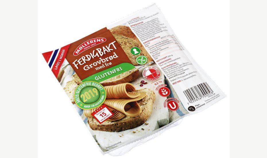 Møllerens Ferdigbakt Grovbrød med Frø, glutenfri