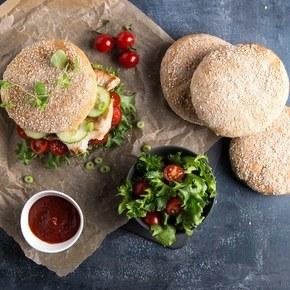 Hamburgerbrød med D-vitamin og kalsium