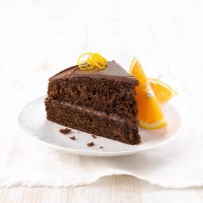 Saftig sjokoladekake med appelsinpynt