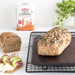 4-korn brød - 100% grovt