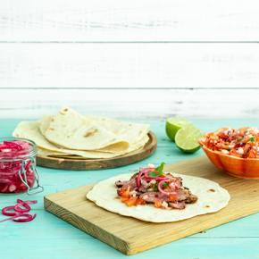 Bifftaco med hjemmelaget tortillas