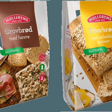 Møllerens lanserer glutenfrie brødblandinger med nøkkelhull!
