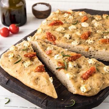 Focaccia med feta og urter, glutenfri
