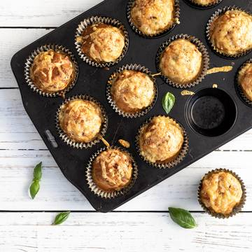 Grove matmuffins med skinke