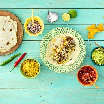 Klassisk taco med hjemmelaget tortillas